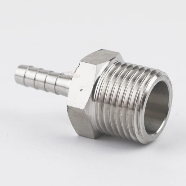 Stainless Steel Fittings – 1/2in. MPT x 1/4 in. barb