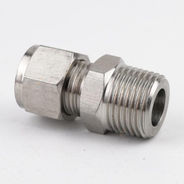 "Tube Compression X NPT Threaded Adaptor - 3/8"" Tube X 1/2"" MNPT"