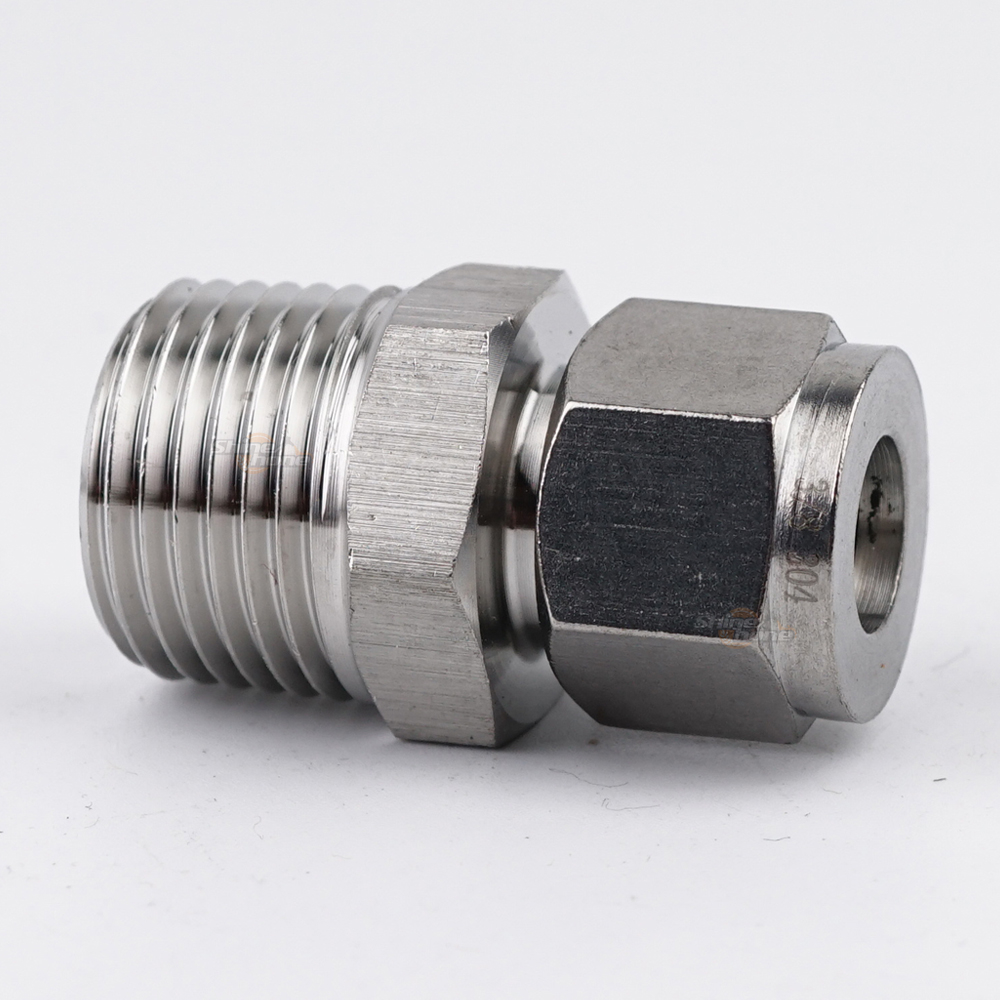 "Tube Compression X NPT Threaded Adaptor - 1/2"" Tube X 1/2"" MNPT"