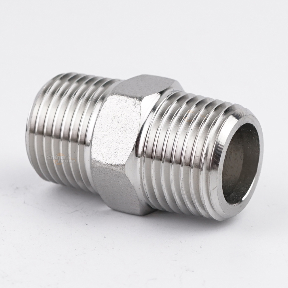 Stainless Hex Nipple – 1/2 in. x 1 3/4 in. Threaded