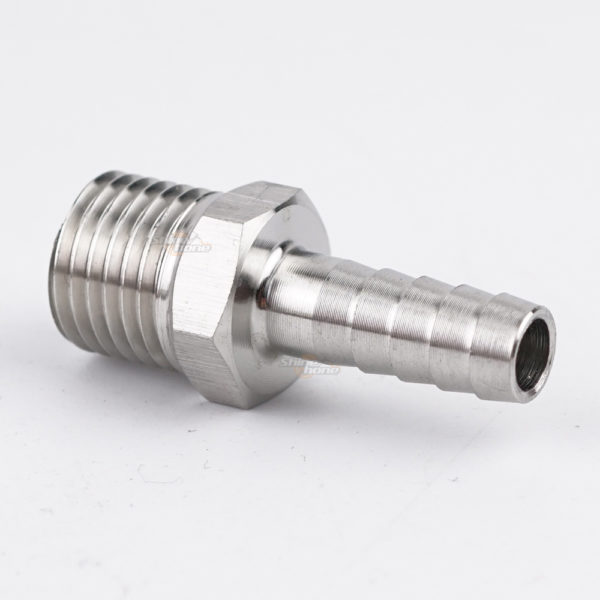 Stainless Steel Fittings – 1/4in. MPT x 1/4 in. barb