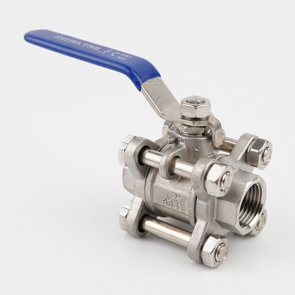 Stainless Steel Ball Valve - 1/2 in. (3-Piece)