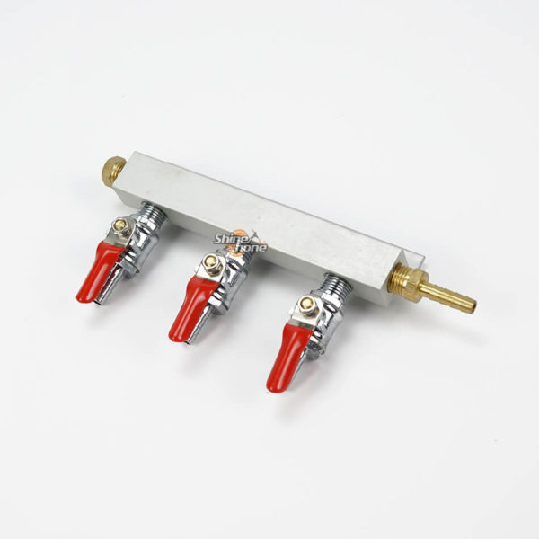 3 Ways 1/4″ Barbed CO2 Manifold Distributor